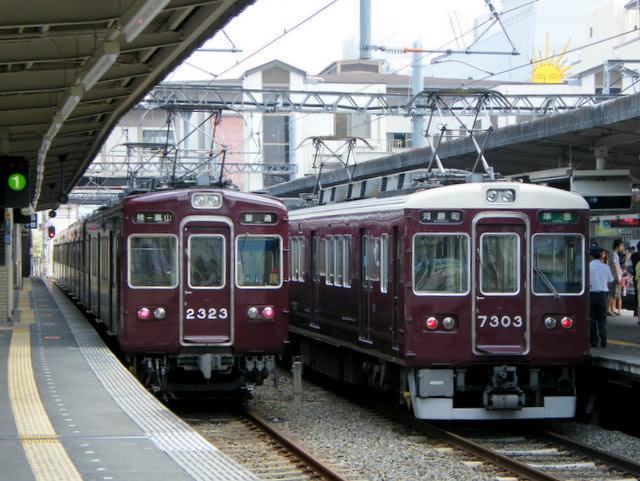 阪急2300系と7300系