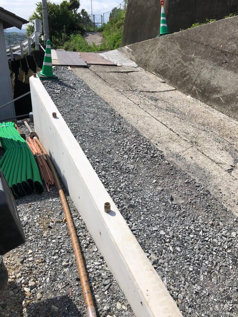 高知市朝倉の新築の造成工事の様子です。 | 高知市で月々三万円で新築一戸建てを建てるならサンブランドハウス