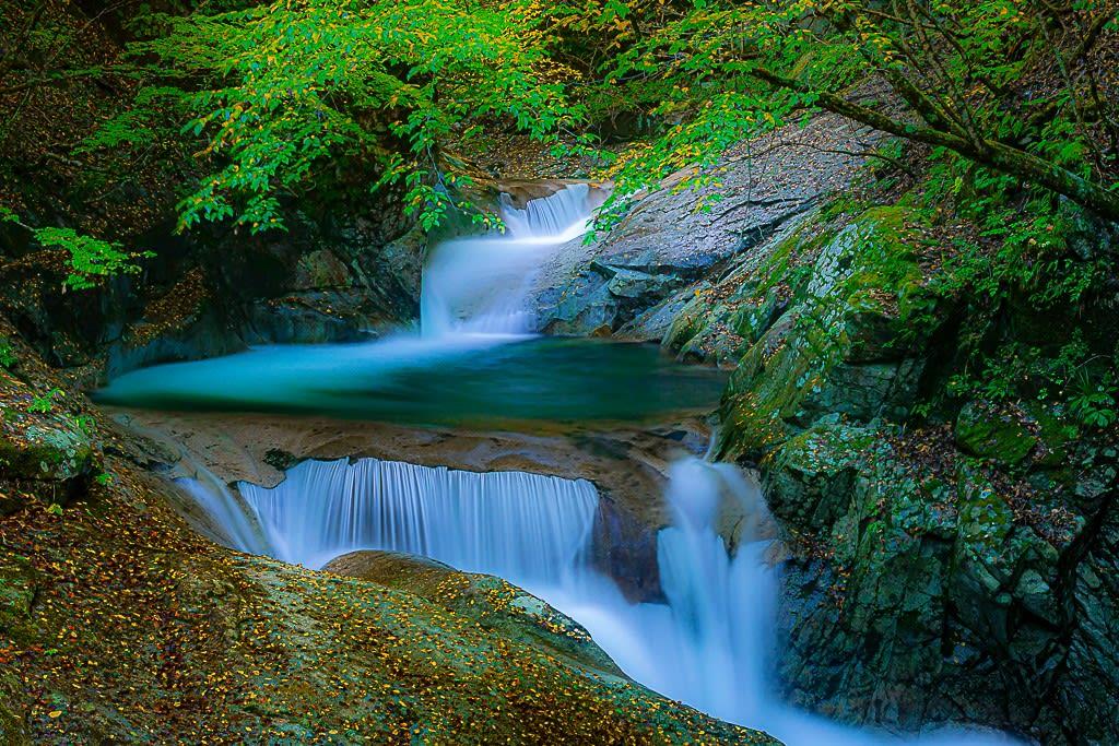 西沢渓谷 三重の滝の写真