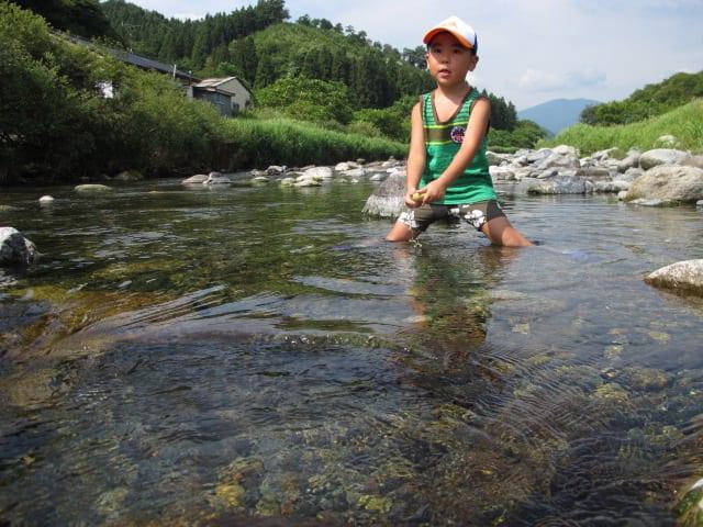 遊び 川遊び 山