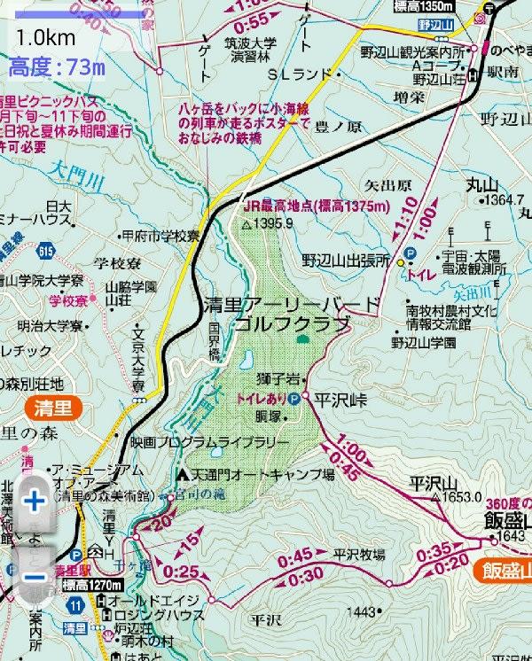 飯盛山コースマップ