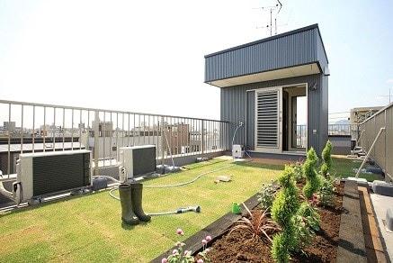 屋上庭園の写真