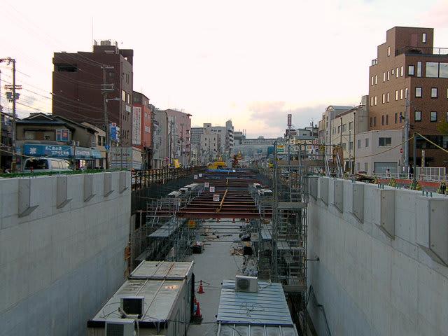 阪神なんば線工事中