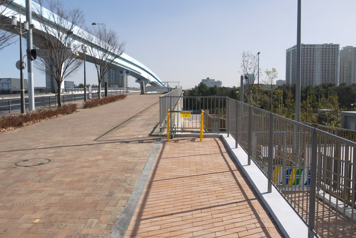 2月の豊洲市場:有明北橋を北進...