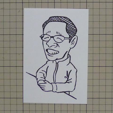 佐野稔似顔絵イラスト画像