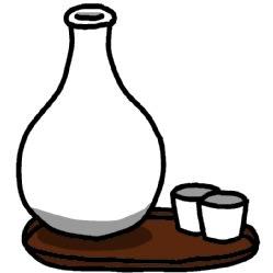 日本酒 イラスト シンプルイラスト素材