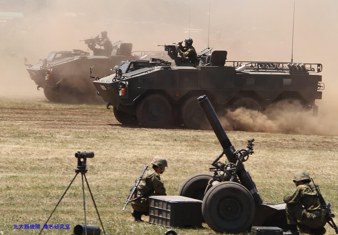 """火力戦闘車/装輪155mm榴弾砲試作車が納入(考察5)AMOS自走迫撃砲""""火力 ..."""
