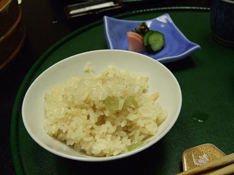 南津軽錦水 食事 青蕗と桜海老