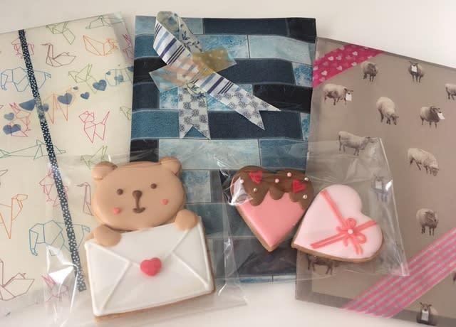 ラッピング アイシング クッキー 手作りバレンタイン♡アイシングクッキーを保育園の先生方へプレゼント