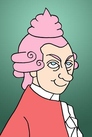 モーツァルトの似顔絵