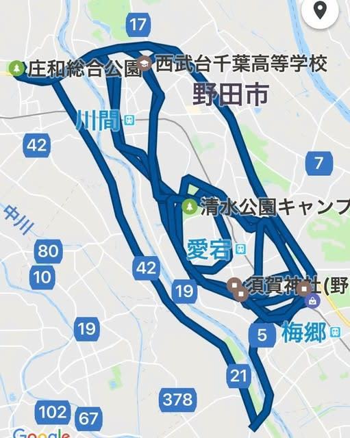 100km走行