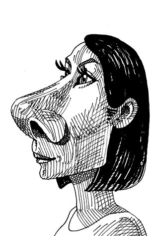 吉田羊の似顔絵