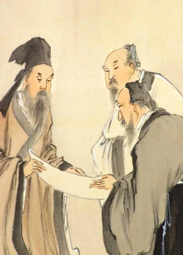 竹林七賢人之図双幅 小村大雲筆 その5 - 夜噺骨董談義