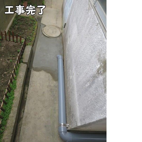 押入れのトイレ化。完成_屋外配管・汚水桝。