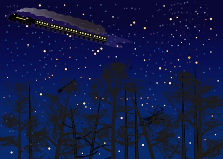 銀河鉄道 イラスト描いて楽しむよ
