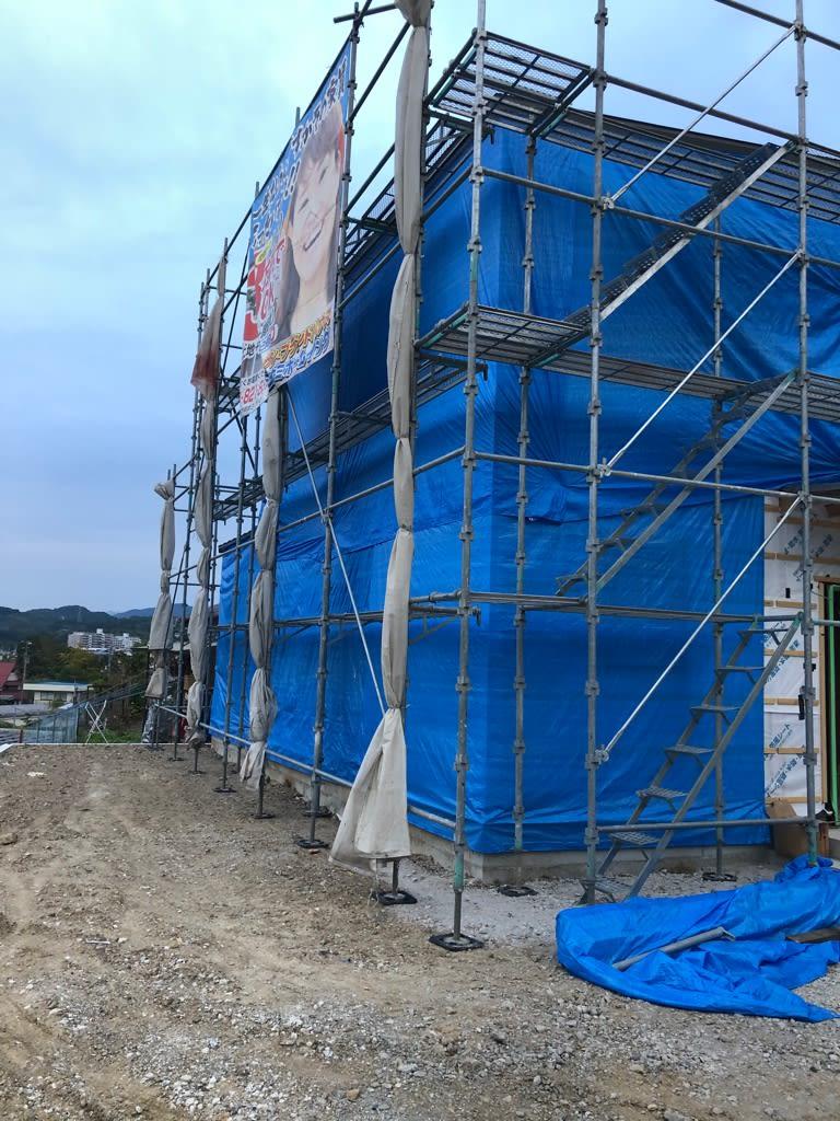 高知市朝倉の新築工事現場の写真です | 高知県でシングルマザーのための家を建てるならサンブランドハウス