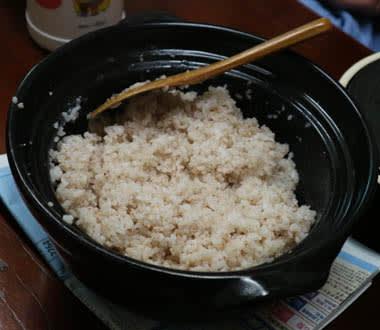 ブータンの赤米ご飯