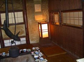 とがの木茶屋内