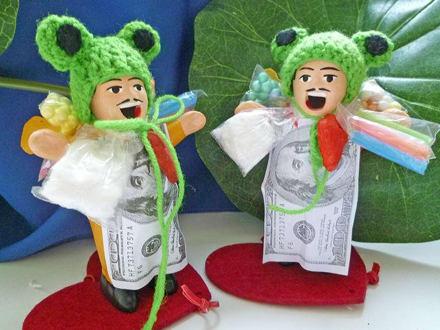 意味がアル!コスプレ帽子♪私の元に無事カエル!エケコ人形用小物!