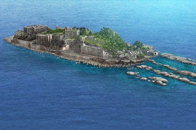 軍艦島未来予測図30年後