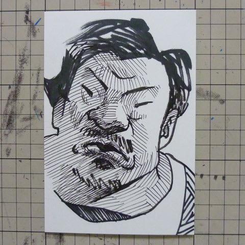 稲垣啓太選手の似顔絵イラスト画像
