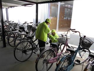 中学校自転車安全無料点検 - MAME君の日記