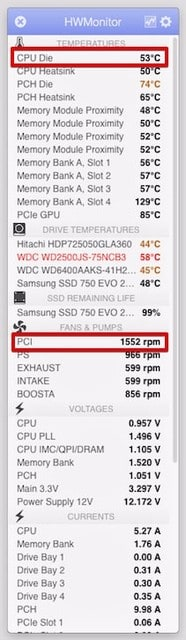 MacでCPUの温度を表示するアプリ - ハギーのホビーな話