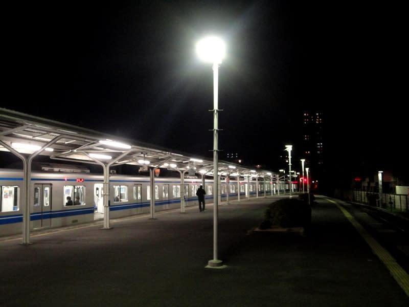 12月27日 豊島園駅ホーム