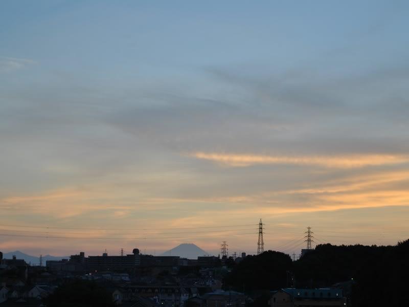 08月28日 夕方の富士山