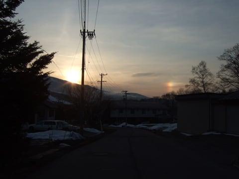 菅平高原の幻日