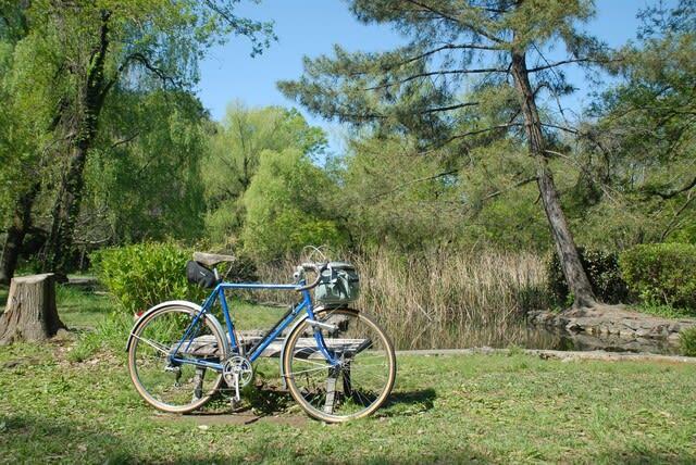 多摩湖自転車道 石神井公園 ランドナー