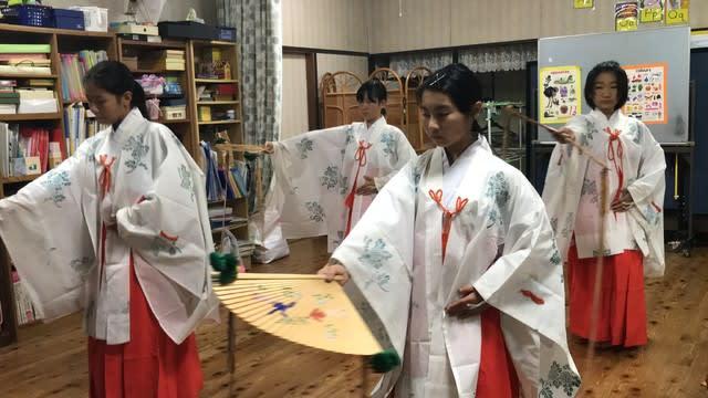 2018雪浦秋季大祭 雪浦くんち 「浦安の舞」の練習がつづく