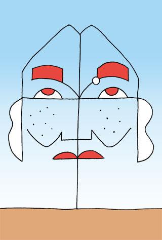 松井秀喜の似顔絵