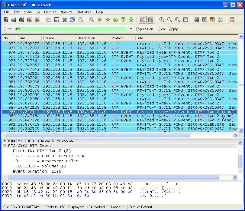 RFC4733でDTMFを拾ってみる - マイコン工作実験日記