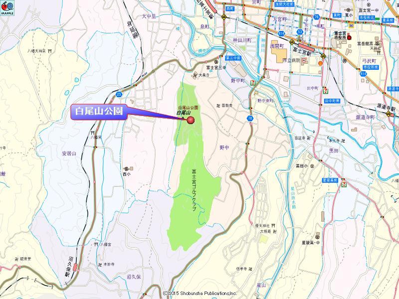 白尾山公園の地図