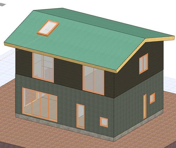 3寸勾配屋根の画像