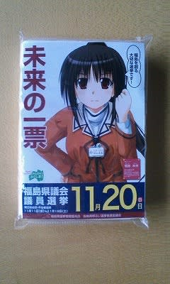 11月20日は福島県議会議員選挙 b...