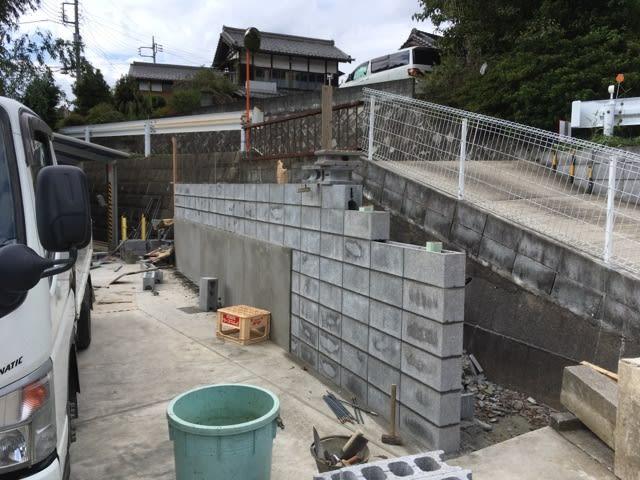 地面から2m 擁壁ブロック工事が完了 茨城 守谷 中古住宅を Diy でリノベイションしよう ホームインスペクター S 匠レポート