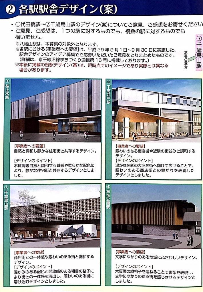 京王線の高架化に伴う駅舎のデザ...