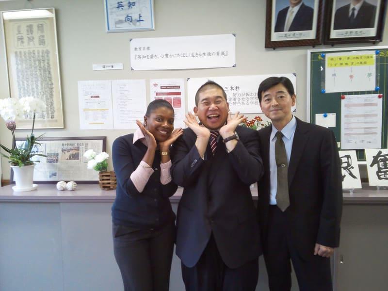 道後中学校で人権落語会!