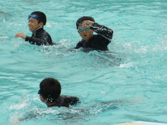 着衣泳 - 毎日元気!広野小学校