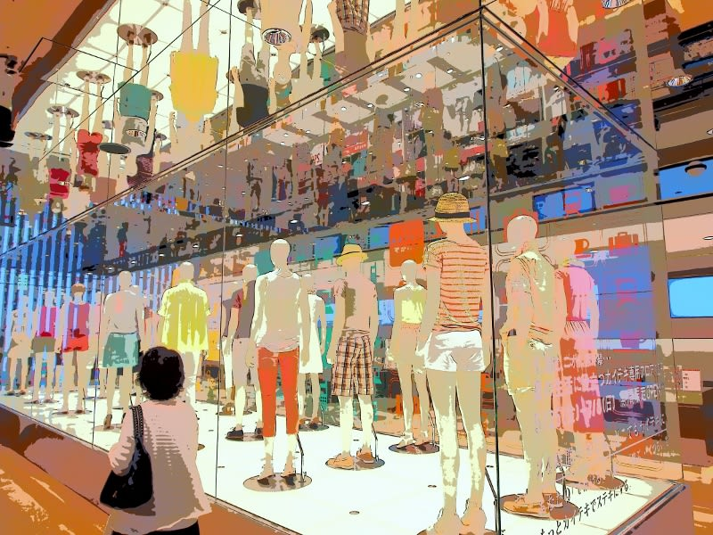 銀座(2012.6.17) ユニクロ銀座店 - 光と影のつづれ織り