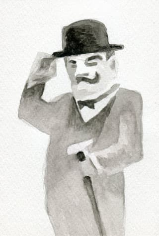 名探偵ポワロ似顔絵イラスト画像