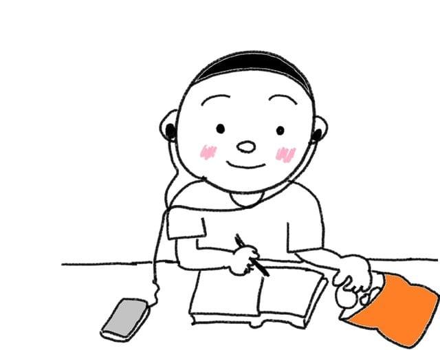 28課 ながら ます スーザンの 日本語教育 手描きイラスト
