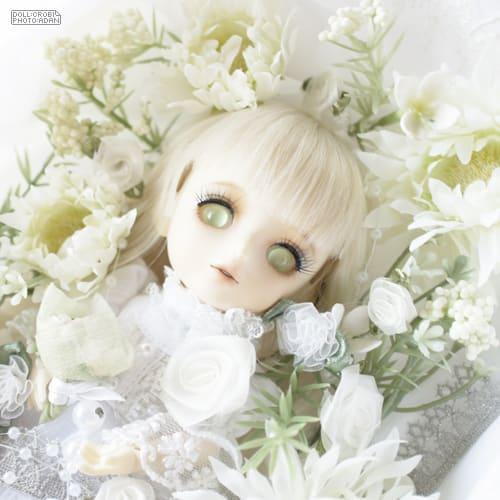 白」~白い小物に白い服 - ガラス...