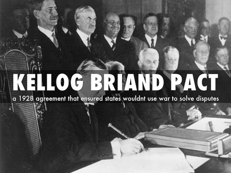 ケロッグ・ブリアン協定に、15か国が調印。 - 世界メディア ...