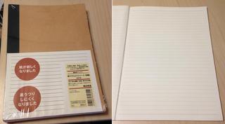 無印良品のA5・100枚ノート 2015.8.25 東京都練馬区