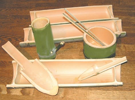 自作の竹食器で趣を♪和の空間でお花見タイム
