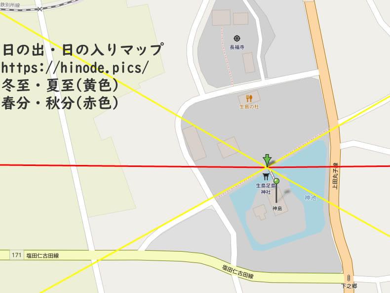 生島足島神社と冬至・夏至