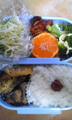 今日のお弁当[唐揚げ&玉子焼き]